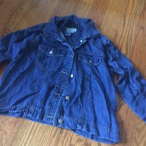 Coldwater creek denim light weight jacket XS blue